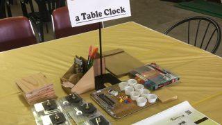 ネイチャークラフト体験「手作りの時計」